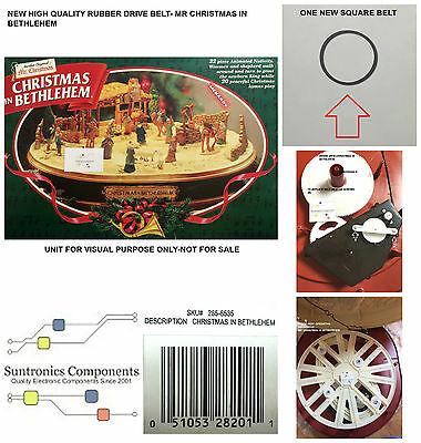 MR CHRISTMAS -Christmas In Bethlehem- REPLACEMENT PART-PULLEY BELT