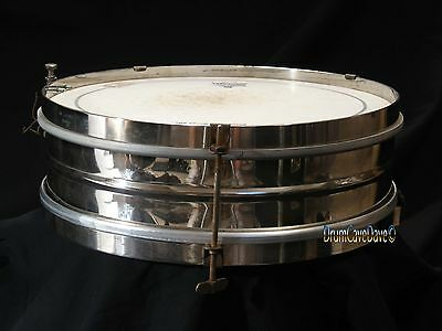 "Vintage 1908 Leedy Antique 3X13"" Snare Drum, Nickel Over Brass Shell"