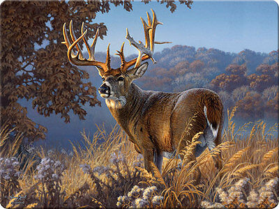 Majestic Stag Deer Tempered Glass Cutting Board ~ Rivers Edge