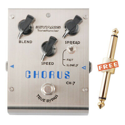 BIYANG CH-7 CHORUS Electric Guitar Effects Pedal Analog Circuit & Free Connector