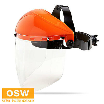Premium Australian Standard Safety Anti-Fog Impact Face Shield Browguard Visor