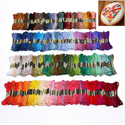 50/100/200X Multicolor Cross Stitch Thread Embroidery Floss Sewing Skeins Anchor