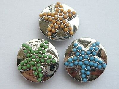 wholesales lots random mixed 18MM metal snaps ButtonsFit Snap Bracelet Jewelry V