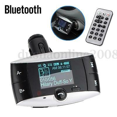 Kit Voiture Main Libre Bluetooth FM Transmetteur MP3 Player Lecteur SD MMC USB