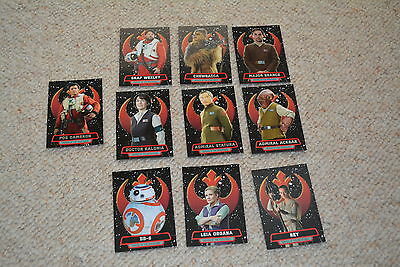 TOPPS STAR WARS FORCE AWAKENS Series 2 trading cards 10x HEROES 5x FIRST ORDER
