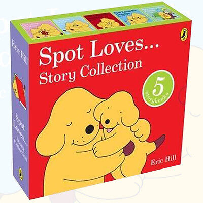 Eric Hill Children Books Spot Loves Story Collection 5 Books Set,-Dad,Mum,Friend