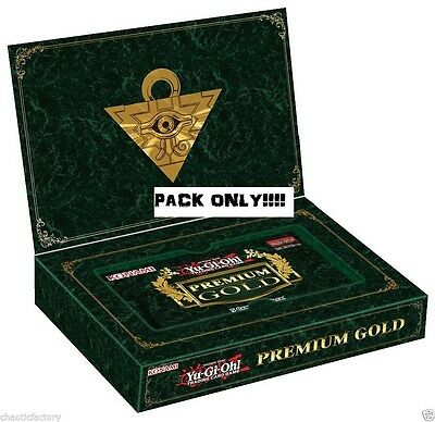 YuGiOh Premium Gold 2014 Booster PACK ONLY 15 CARDS God cards can be found!