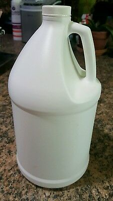 Lot of 4, 1 Gallon Empty HDPE Plastic Jugs with Lined Screw Caps