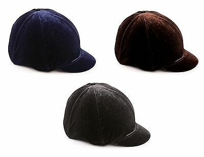 Shires Skull Cap Velveteen Hat Cover Silk For Horse Riding Helmets ALL SIZES