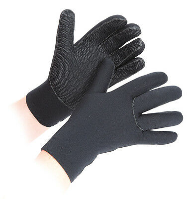 Shires Neoprene Horse WARM WINTER Stable Yard Gloves ALL SIZES **BLACK**