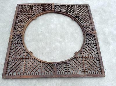 Cast Iron Steampunk Industrial Grate for Sidewalk Tree NICE!
