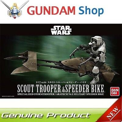 BANDAI Star Wars 1/12 Scout Trooper & Speeder Bike No. 196693 JAPAN