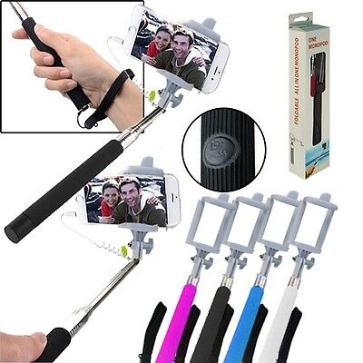 Selfie Stick Monopod Hand-Held Shutter Extendable Assorted Colors (LOT OF 24X)