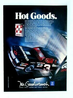 1989 Mr Goodwrench Ad-Dale Earnhardt-HOT GOODS-GM PARTS