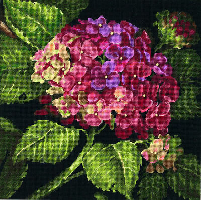 Hydrangea Bloom Needlepoint Dimensions Cross Stitch Kit - Flowers