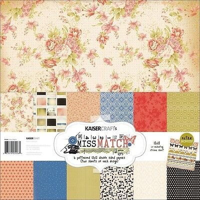 "Kaisercraft 12""x12"" Scrapbook Paper Pack PK406 ~ Miss Match"