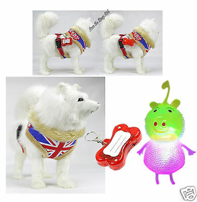 Dog/Puppy Harness, Adjustable Harness With LED Flashing Light & Dog Toy!