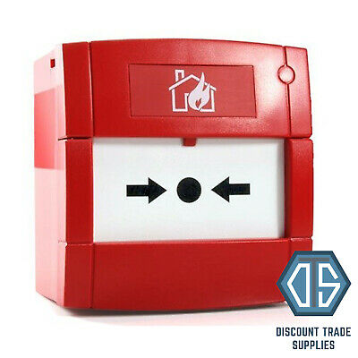 KAC Fire Alarm, Conventional Break Glass Manual Call Point 470ohm - Back box inc