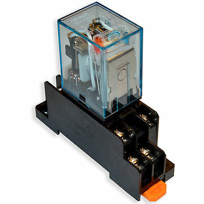 (2 PCs) NEW Omron MY2N-J 12V/AC Coil Cube Relays With PYF08A Socket Base