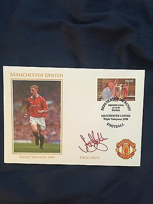 Nicky Butt Manchester United Cover - Autopen Signed 1999 - Benin