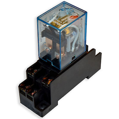 (10 PCs) 10A Omron LY2N-J Cube Relays 220~240V/AC Coil with PTF08A Socket Base