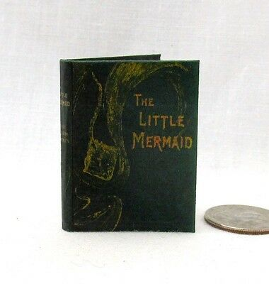 THE LITTLE MERMAID 1:6 Scale Readable Illustrated Dollhouse Miniature Book