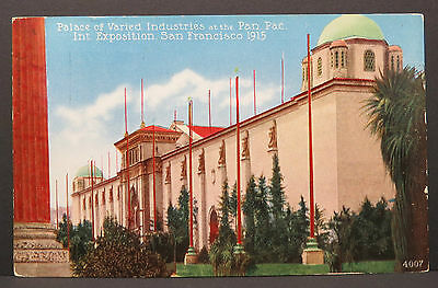 Palace of Varied - Alameda 1915 - Wold´s Panama Pacific Postcard AK ( Lot A3798