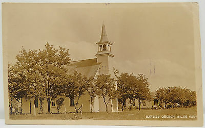 Baptist Church  - Milan Kans. 1910 Cancel - Postcard AK Postkarte (A2552