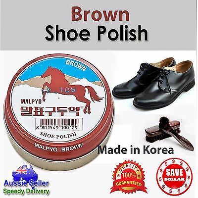 Shoe Polish Conditioner Cleaner Brown Shine Nourish Protect Wax Leather Care