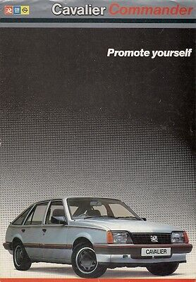 Vauxhall Cavalier Mk2 Commander Limited Edition 1985 UK Market Sales Brochure