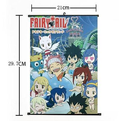 Hot Japan Anime Fairy Tail Cute Natsu Whole Art Home Decor Poster Wall Scroll