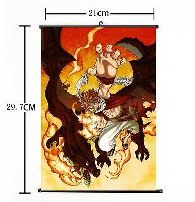 Hot Japan Anime Fairy Tail Dragon Natsu Dragneel Home Decor Poster Wall Scroll