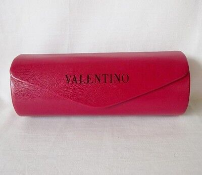 Valentino Sunglasses Case Red Top Flap Magnetic Eyeglasses Case Flap New