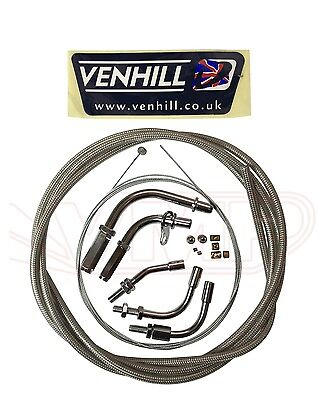 Venhill Universal Braided Throttle Cable Kit 2 Meters
