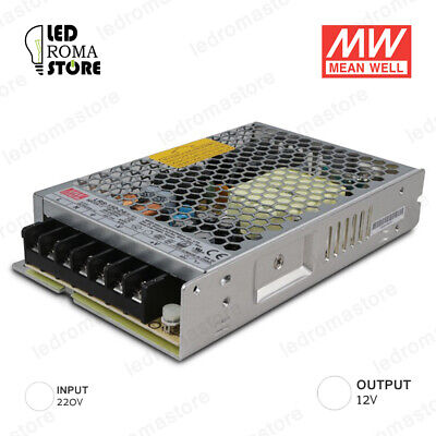 Alimentatore Switching Mw 150W 12V Dc 12.5A Ip20 Mean Well Rs-150-12
