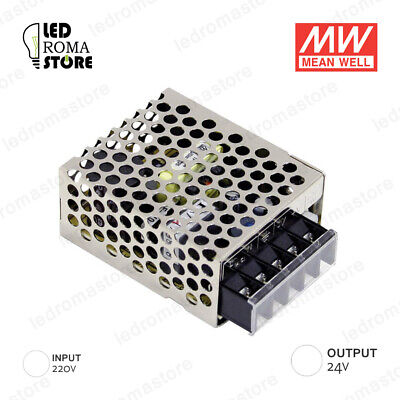 Alimentatore Switching Mw 15W 12V Dv 0.62A Ip20 Mean Well Rs-15-24