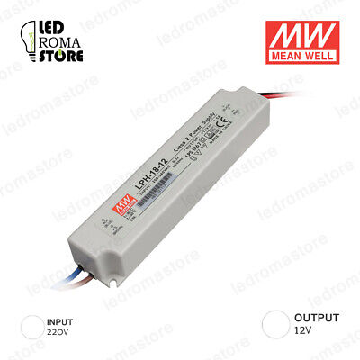 Alimentatore Switching Mw 18W 12V Dc 1.5A Ip67 Mean Well Lph-18-12