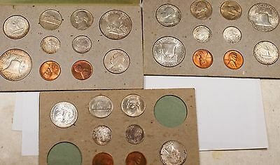 1948 P D S US Original Naturally Toned Double Mint Set 28 Coins 16 are Silver