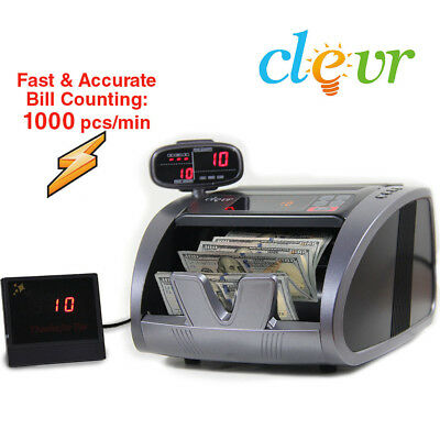 Clevr Premium Bill Counter Fast Heavy Duty Money Count Counterfeit Detection