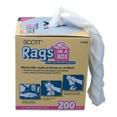 "Scott Rags In A Box 10"" x 14""  - 200 Count KIM75260 Brand New!"