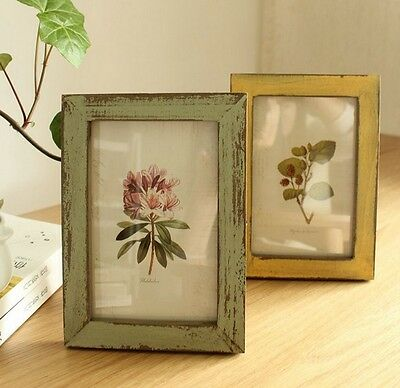 Vintage Photo Picture Frame Antique Rustic Ornament Wood Lovely Wedding Gift