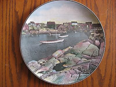 Royal Doulton Fishing Village Small Harbour Boats Collector Plate