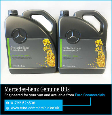 10L Genuine Mercedes 5W/30 Low SAPS Diesel Engine Oil MB229.51 Fully Synthetic