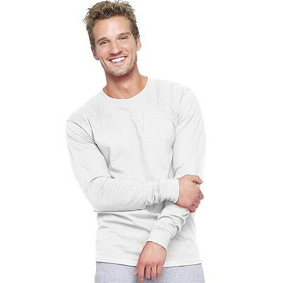 Hanes Adult Beefy-T Long-Sleeve T-Shirt. Free Shipping