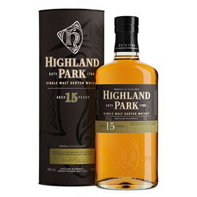Highland Park 15 Year Old Single Malt Scotch Whisky 700mL