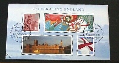 Celebrating England 2007 Stamp Sheet VFU Very Fine Used