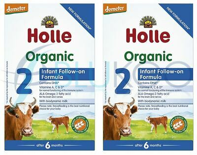 Holle Organic Infant Follow-On Formula 2 - 600g (Pack of 2)