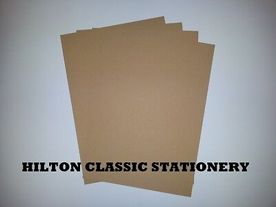 A4 / A5 Quality Eco 100% Recycled Brown Kraft Card-For Craft/weddings