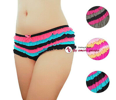 Ladies Ruffle Panties Underwear Lingerie Briefs Mesh Cake Layers AU 10-16 NEW