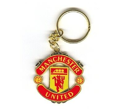 New Official Man Manchester United Fc Enamel Crest Keyring Red Devils Gift
